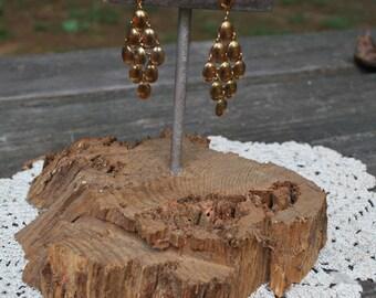 Vintage Bronze Color Cascading Dangle Earrings Western Biker Boho Southwest