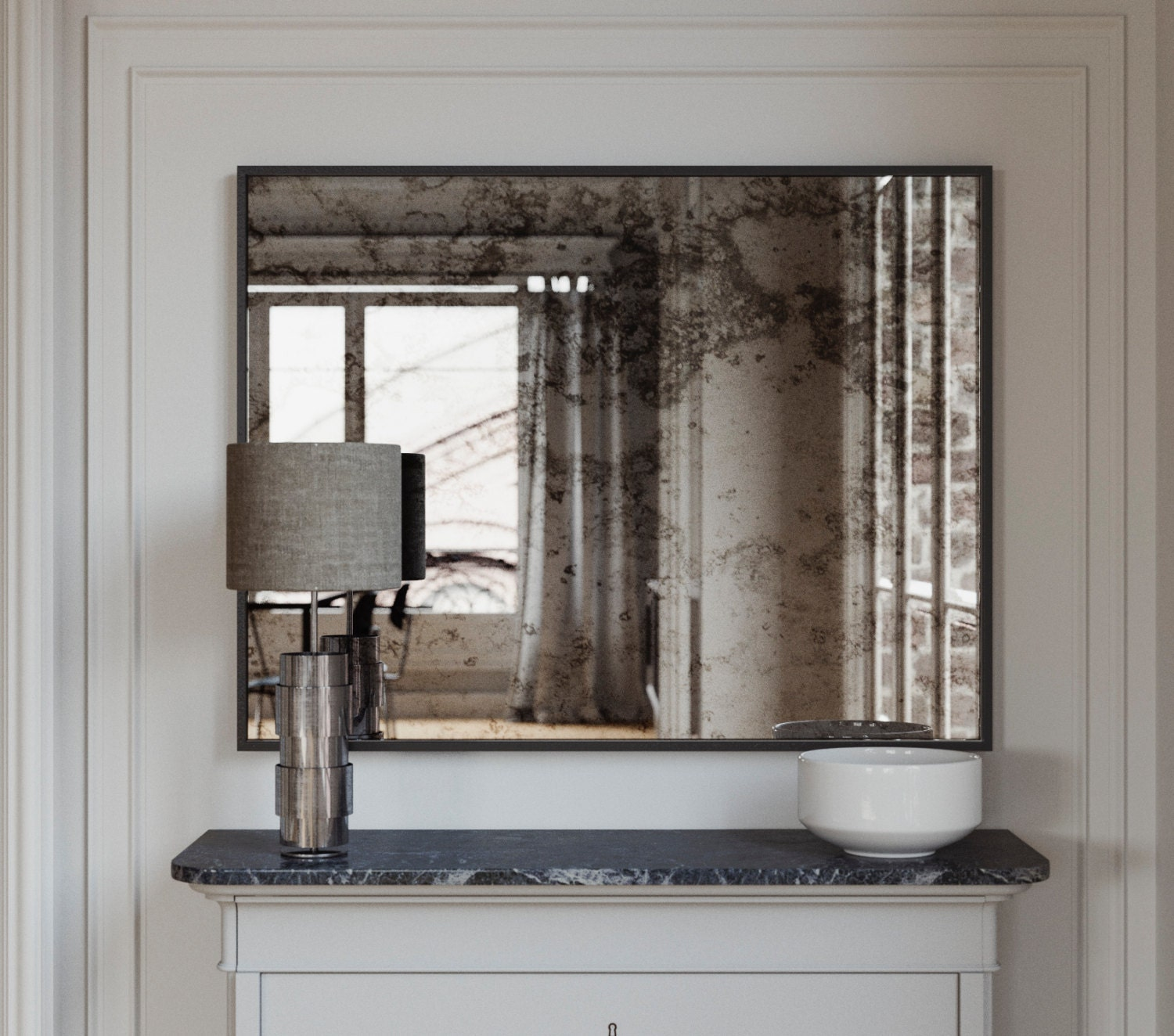 The Coveteur Antique Mirror Walls: Antique Framed Mirror. 1940s 50s And 60s Inspired Wall Mirror
