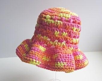 3-6 months handmade crochet sunhat