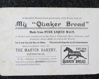 Marvin's Bakery Pittsburgh, pre Nabisco trade card