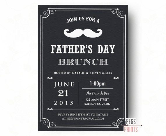 Items similar to Fathers Day Brunch Invitation - Printable ...