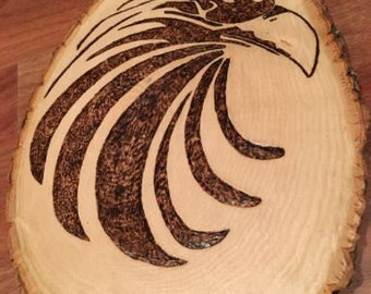 Burned Eagle Head