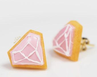 Pink Icing Cookie Earrings