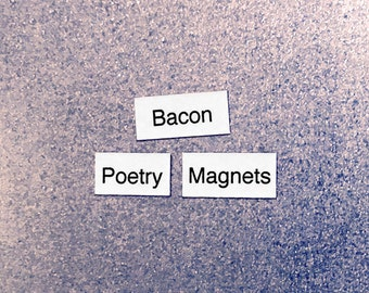 Bacon Refrigerator Magnets, Poetry Word Magnets