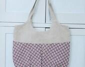 pink geometric go anywhere bag