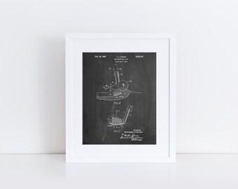Golf Sand Wedge Patent Poster, Golf Club, Golf Wall Art, Office Decor, Sports Art, Coach Gift, Golf Gift, PP0859