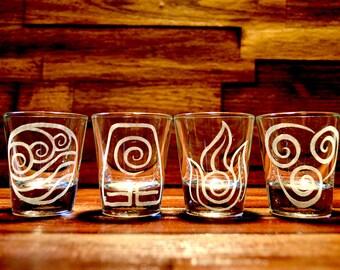 Avatar: The Last Airbender / Legend of Korra Shot Glass Set of 4