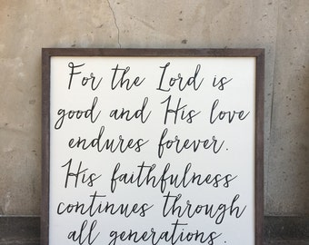 Psalm 100:5 sign