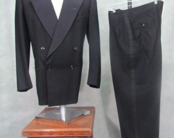 1940sTuxedo Suit Double Breasted 42R 44R