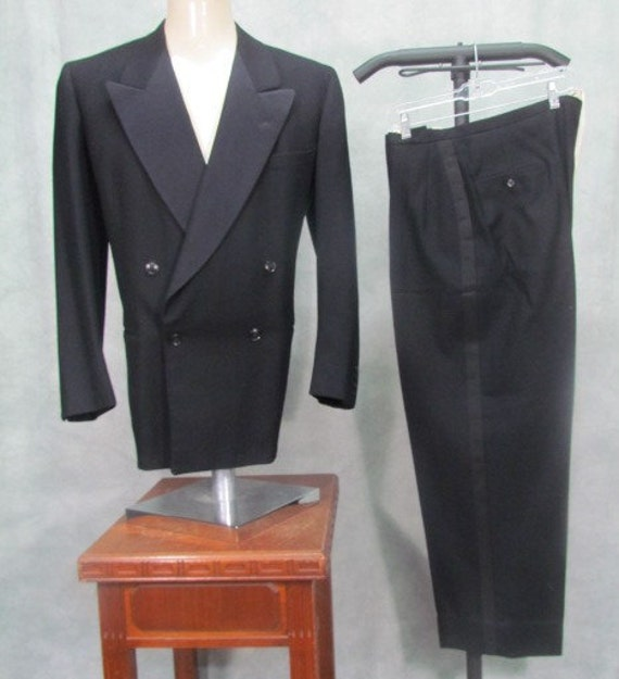 1940sTuxedo 44R Suit Double Breasted mCo5HvT