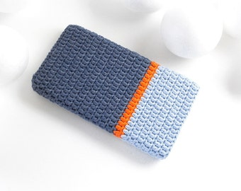 Denim Pixel XL case, Sony Xperia L1 cover, LG G6 sleeve, colorblock HTC U sock, iPhone 7+ pouch, vegan Samsung S8 cozy, Honor 6X phone bag