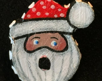 Santa Pin Small Polymer Clay