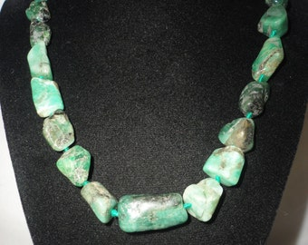 Irresistible Stunning Raw Emerald Necklace  200 Carats.