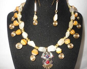 Egyptian Inspired Carnelians Necklace Set******.