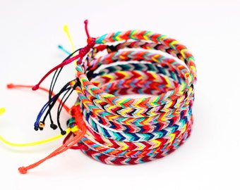 Braided Bracelet Friendship Bracelet String Chevron Bracelet Fishtail Bracelet Fishtail Braid Woven Bracelet