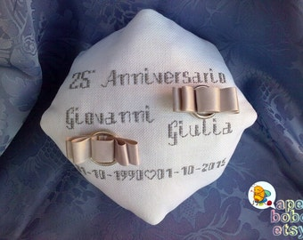 Faith cushion/Wedding Ring Bearer Pillow
