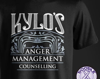 Kylo's Anger Management Counselling - Star Wars Themed T-shirt