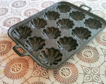 Cast Iron Muffin Pan Antique Twelve Muffin Pan