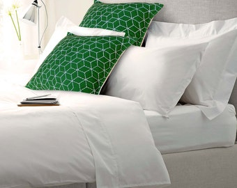 300TC twin sheet set, single sheet with one pillow case, pure cotton, white colour 72X108 inches.