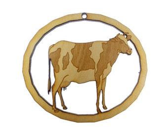 Cow Ornament - Cow Ornaments - Cow Gifts - Cow Decor - Farm Animal Ornament - Farm Ornaments - Barn Yard Animal - Personalized Free