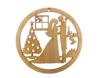 Wedding Christmas Ornament - Bride and Groom Ornaments - Wedding Ornaments - Christmas Wedding Favors - First Christmas -Personalized Free