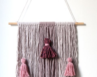 Yarn and tassels wall hanging
