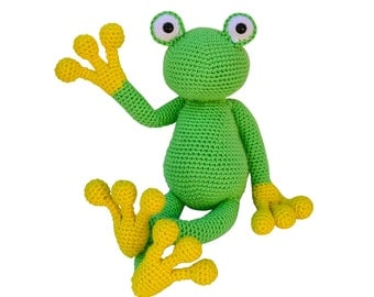 Amigurumi Frog Crochet Pattern, crochet toy pattern, crochet for kids patterns, crochet frog pattern