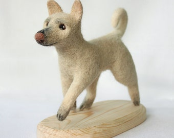 Needle felted your dog sculpture
