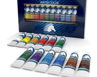 Watercolor Paint Set- Artist Quality Paints- Professional Art Supplies (12 x 12ml) by MyArtscape™