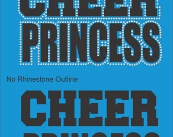 Cheer Sweatshirt/ Rhinestone Cheer Sweatshirt/ Vinyl Rhinestone Cheer Princess Hoodie Sweatshirt/ Cheer Shirts