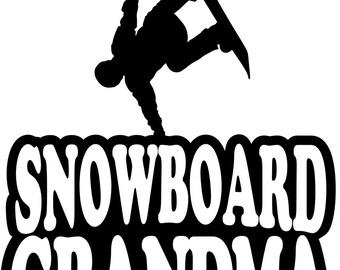 Snowboard Grandma Hoodie/ Snowboard Grandma Sweatshirt/ Snowboard Grandma Gift/ Boy Snowboarder Snowboard  Grandma Hoodie Sweatshirt