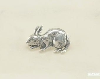 Sterling Silver Hare Brooch