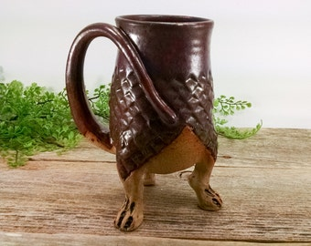 Dragon Creature Cup 20 oz - Dragon Gift for Her - Dungeon Master Gift - Large Mug for Tea - Cubilcle Decor Ideas - Mesiree Ceramics