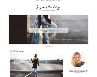 Blogger Template | Modern Blog Template | Blogger Template with Slider | Drop Down Navigation | Mobile Responsive Blogger Template