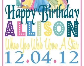 Disney Princess Birthday Sign