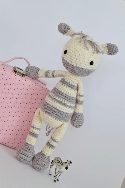 Crochet Amigurumi Zebra Pattern : Crochet Amigurumi Zebra PATTERN ONLY Instant Download