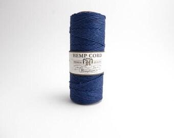 Hemptique Royal Blue Hemp Cord 1mm 62.5m , Hemptique Cord, Blue Hemp Cord, Royal Blue Hemptique Cord HMS0036