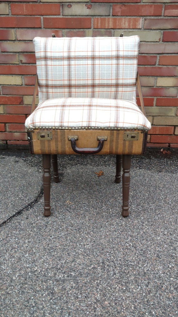 Flannel Suitcase Chair