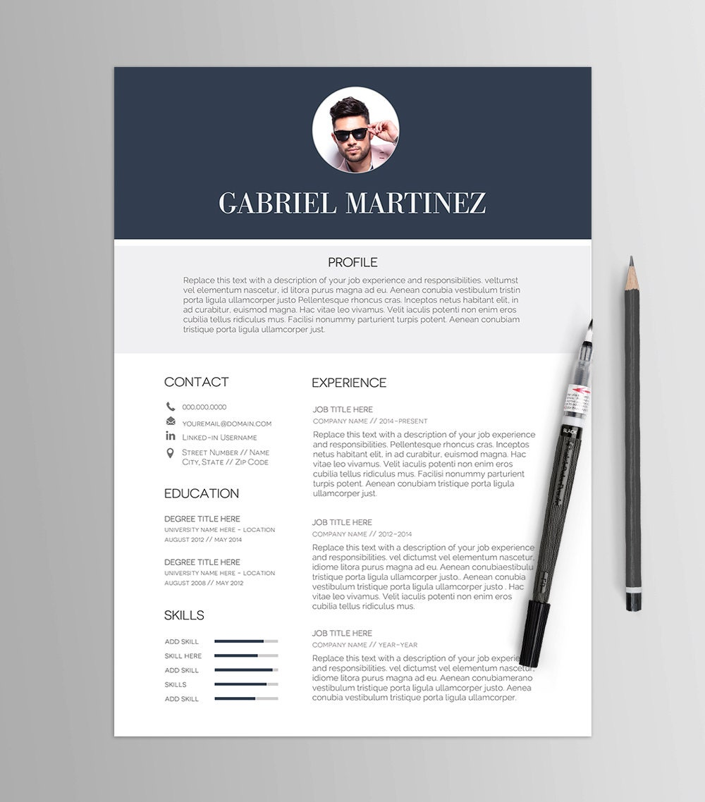 Resume Template No 7 Stylized Cv Cover Letter Job
