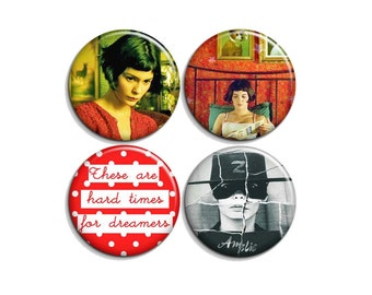 Amelie - pinback buttons or magnets  1.5""