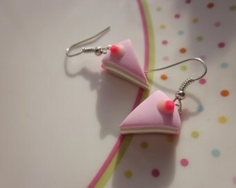Polymer Clay Cake Earrings, Cupcake Jewellery, Cake Jewellery, Dessert Jewellery, Clay Food, Cake Jewelry, Cake Earrings