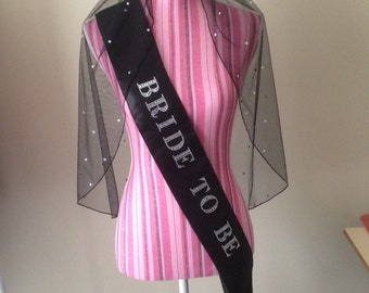 Hens Sashes with  Matching Veil, or a Mix and Match set.