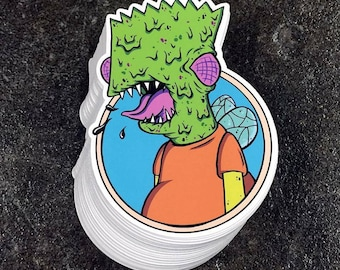 Fly Bart Sticker - The Simpsons Treehouse of Horror