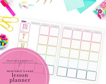 Printable Lesson Planner