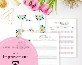 Self-Improvement Planner Inserts / Binder Kit PDF - A Printable PDF