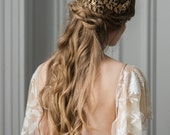 Alena Wrap Headpiece, bridal headpiece, hair vine, bridal gold crown, bridal halo crown, bohemian, woodland, golden bridal crown, boho #240
