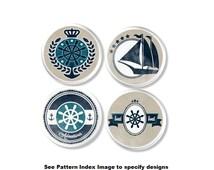 Blue, Tan and White Nautical Drawer Pull - Boy Baby Nursery Knob, Sailboat, Boating, Boat, Coastal, Beach House, Beachy, Shower Gift - 315B5