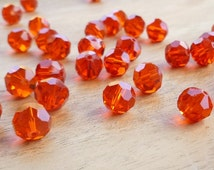 10mm Red Faceted Celestial Crystal Glass Beads - 10mm Faceted Red Beads - 10mm Red Beads - Faceted Red Beads - Earring Beads - Bright Red