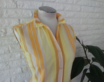 Vtg. Sleevless Blouse