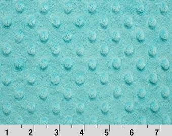 Aqua Breeze Dot Minky Fabric - Shannon Fabrics minky dot by the yard